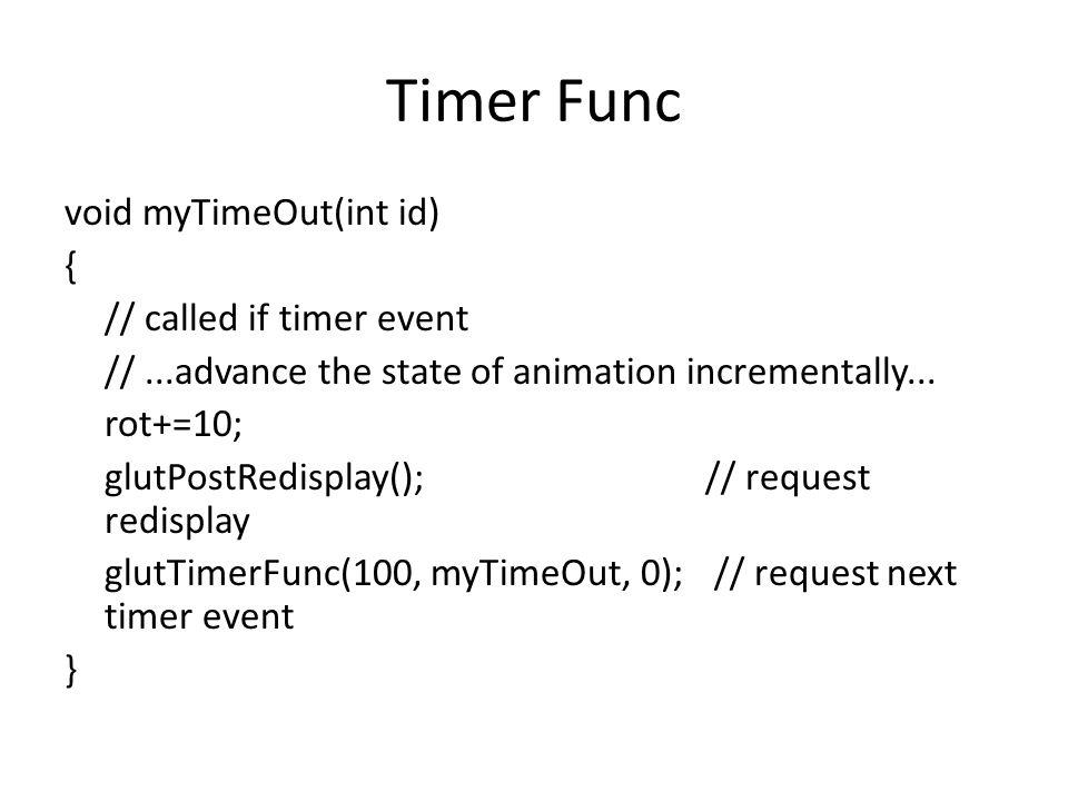 Timer Func