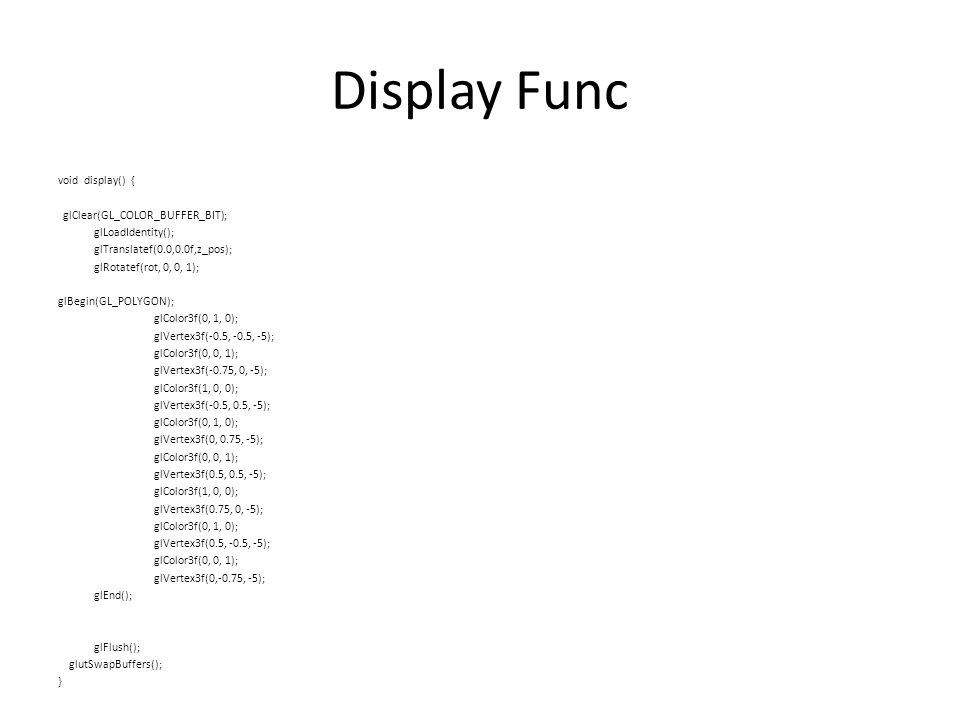 Display Func