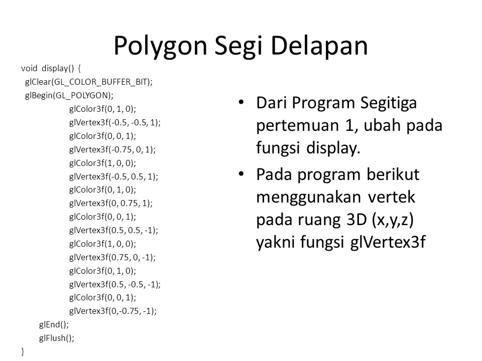 Polygon Segi Delapan