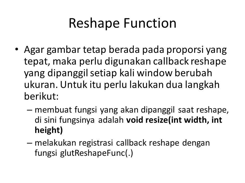 Reshape Function