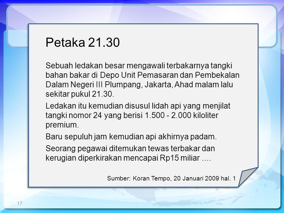 Petaka 21.30