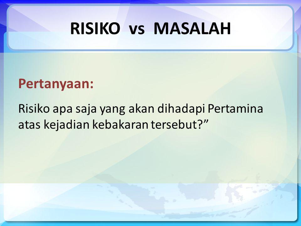 RISIKO vs MASALAH Pertanyaan:
