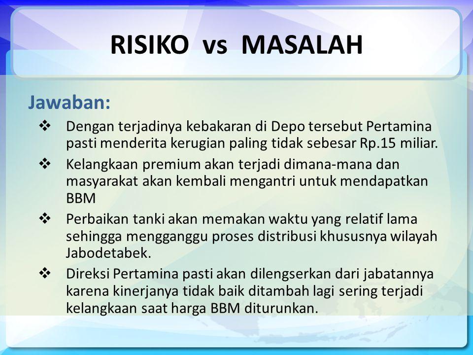 RISIKO vs MASALAH Jawaban: