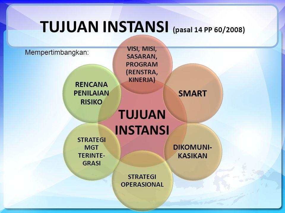 TUJUAN INSTANSI (pasal 14 PP 60/2008)