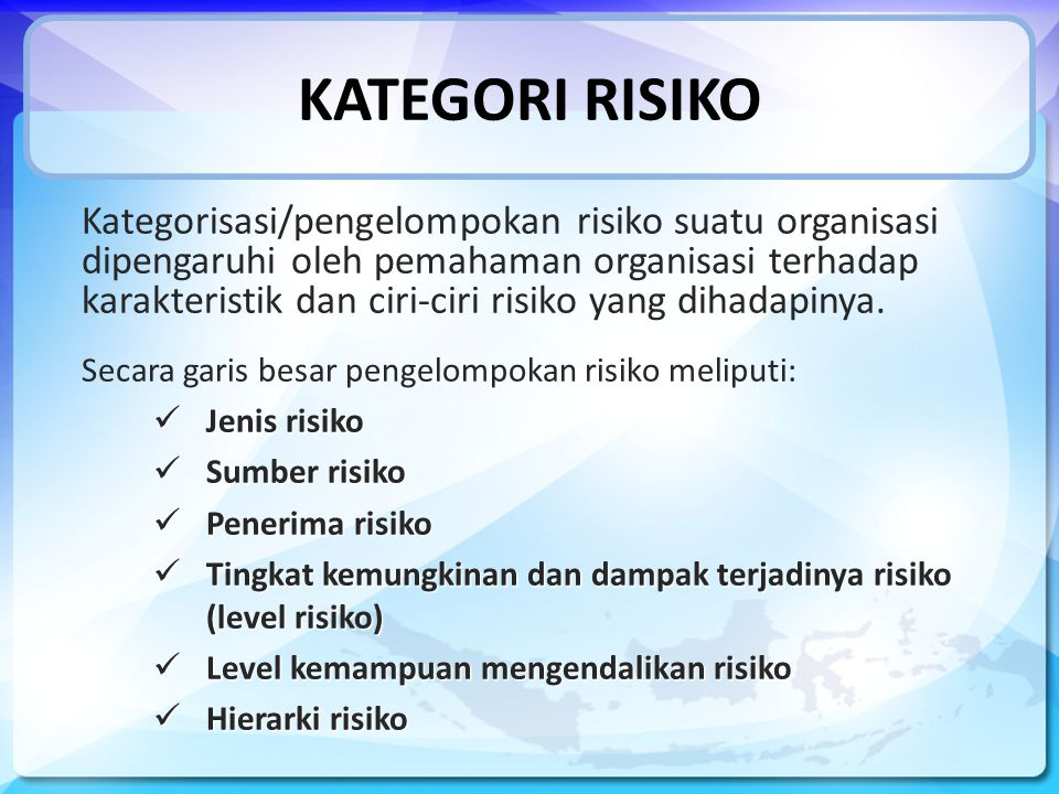 KATEGORI RISIKO