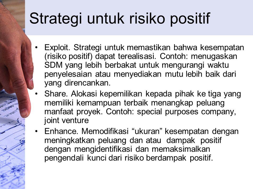 Strategi untuk risiko positif