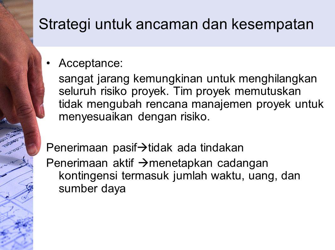Strategi untuk ancaman dan kesempatan