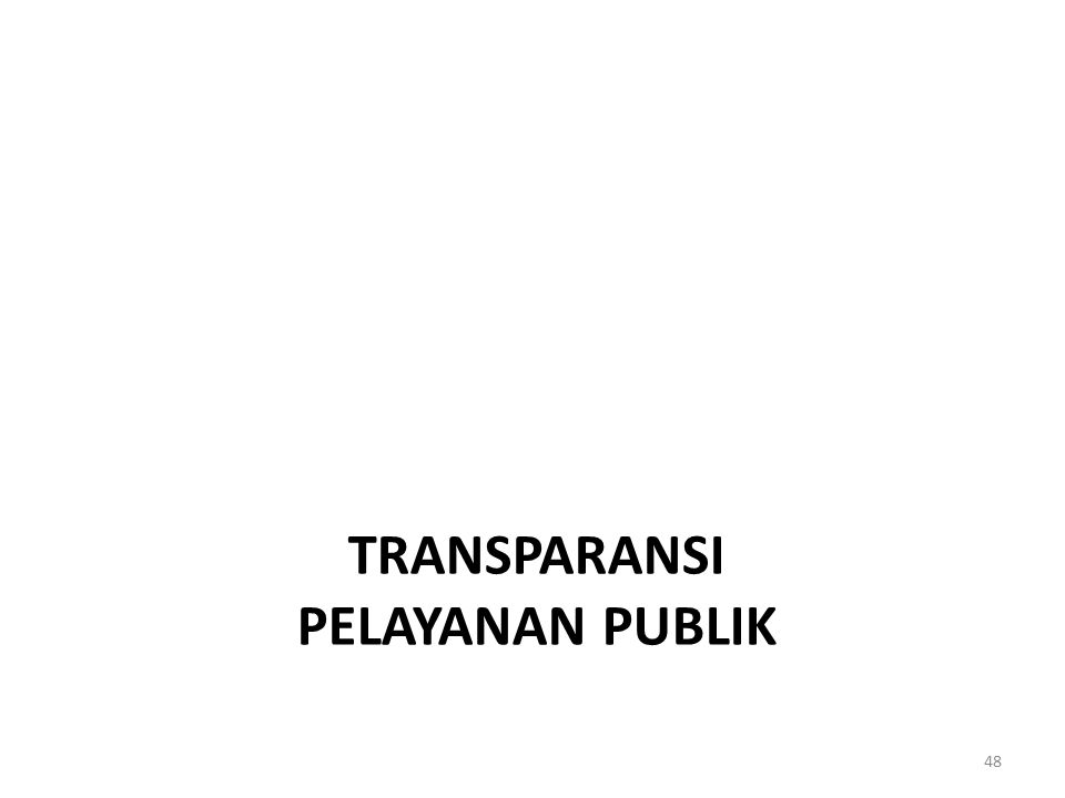 TRANSPARANSI PELAYANAN PUBLIK