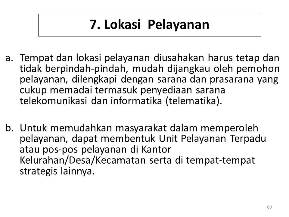 7. Lokasi Pelayanan