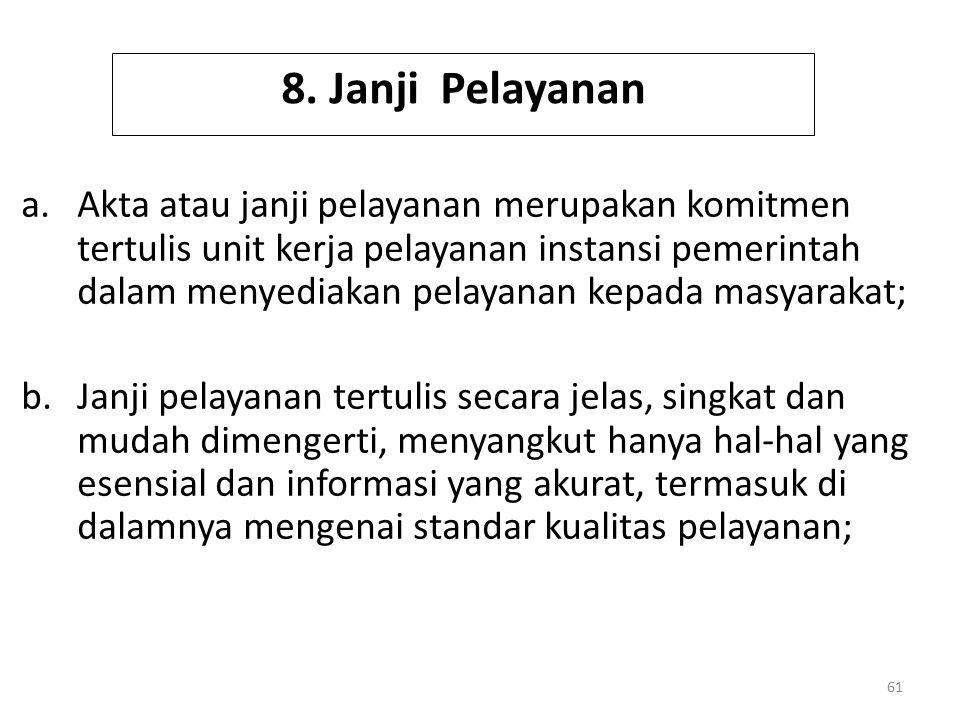 8. Janji Pelayanan