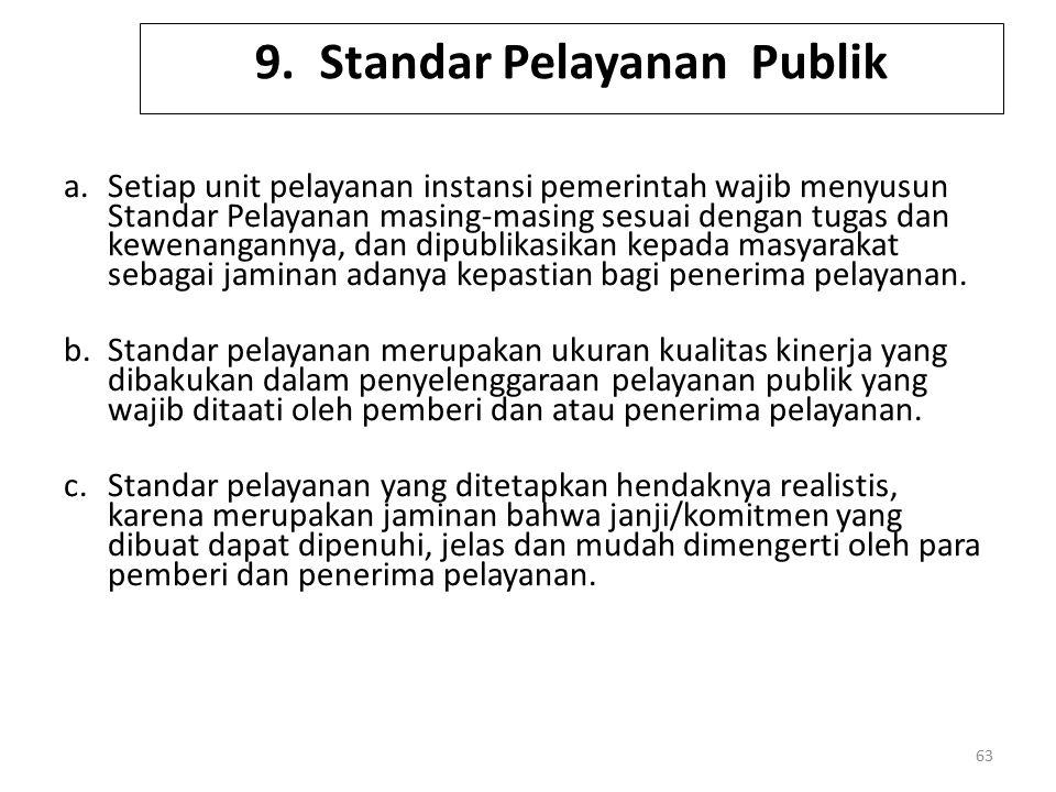 9. Standar Pelayanan Publik