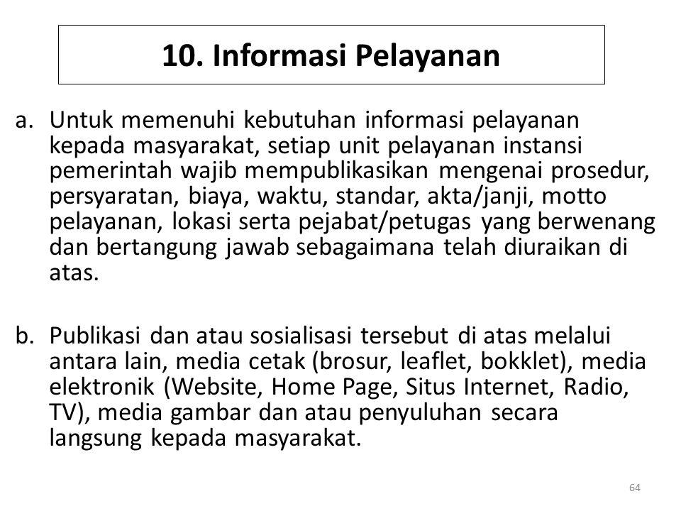 10. Informasi Pelayanan