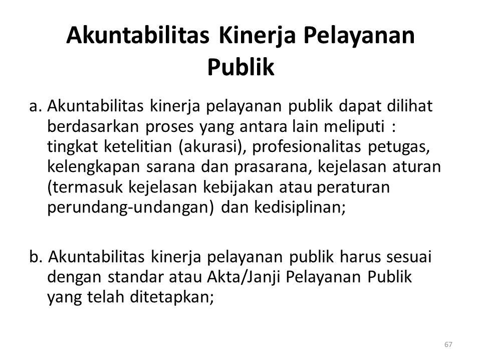Akuntabilitas Kinerja Pelayanan Publik