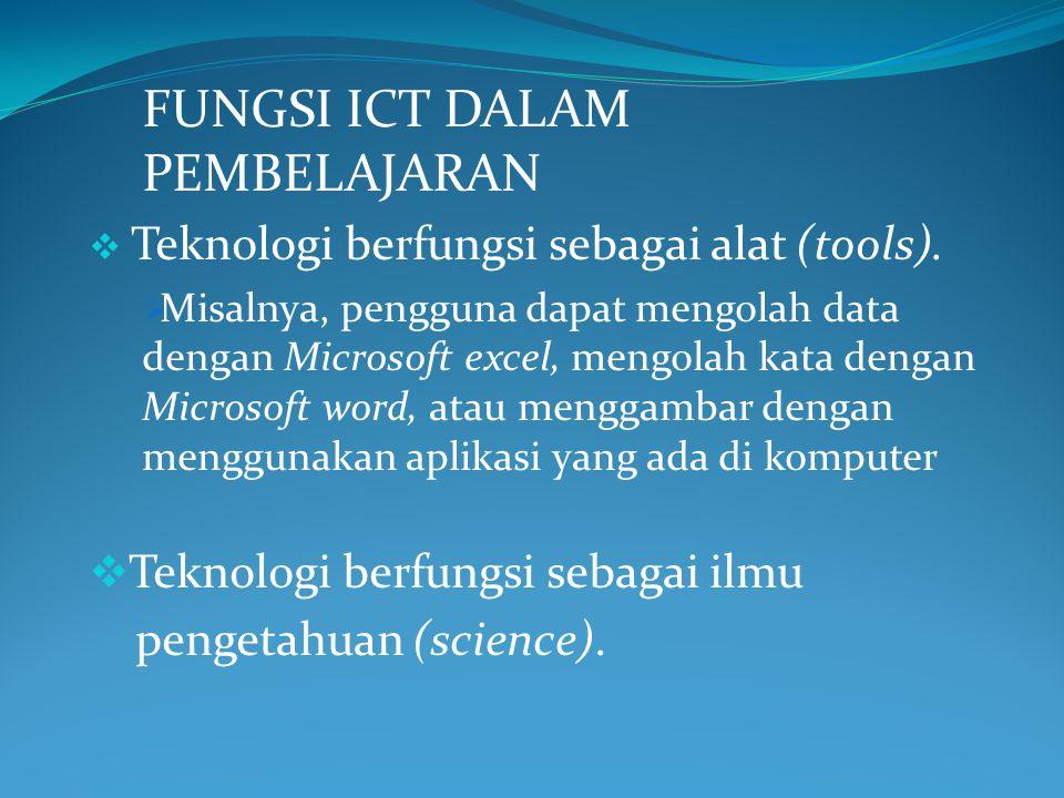 FUNGSI ICT DALAM PEMBELAJARAN