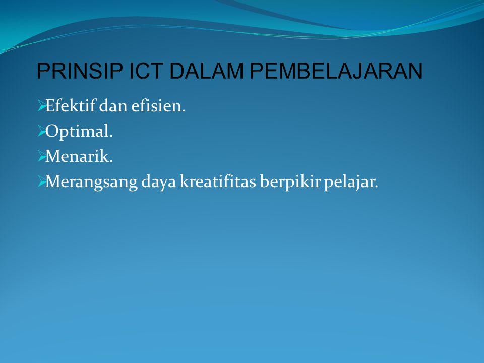PRINSIP ICT DALAM PEMBELAJARAN