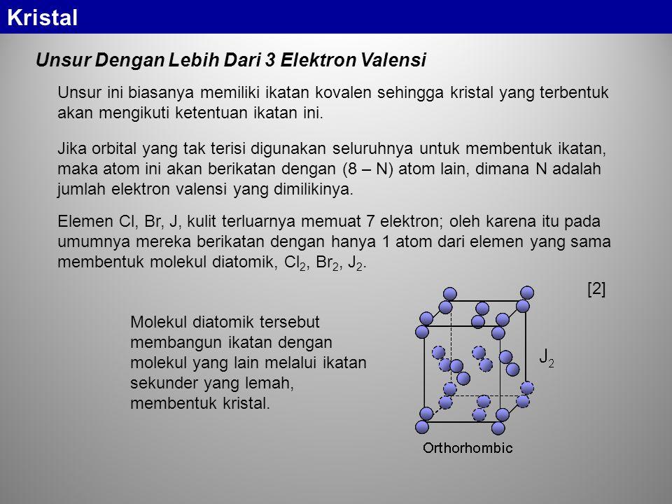 Kristal Unsur Dengan Lebih Dari 3 Elektron Valensi