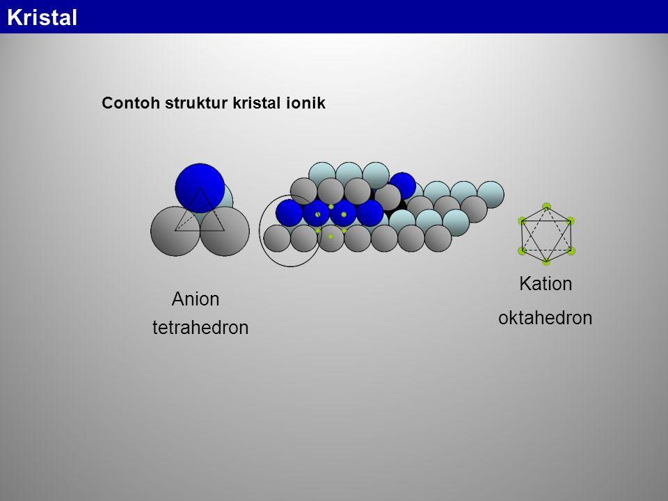 Kristal Kation Anion oktahedron tetrahedron