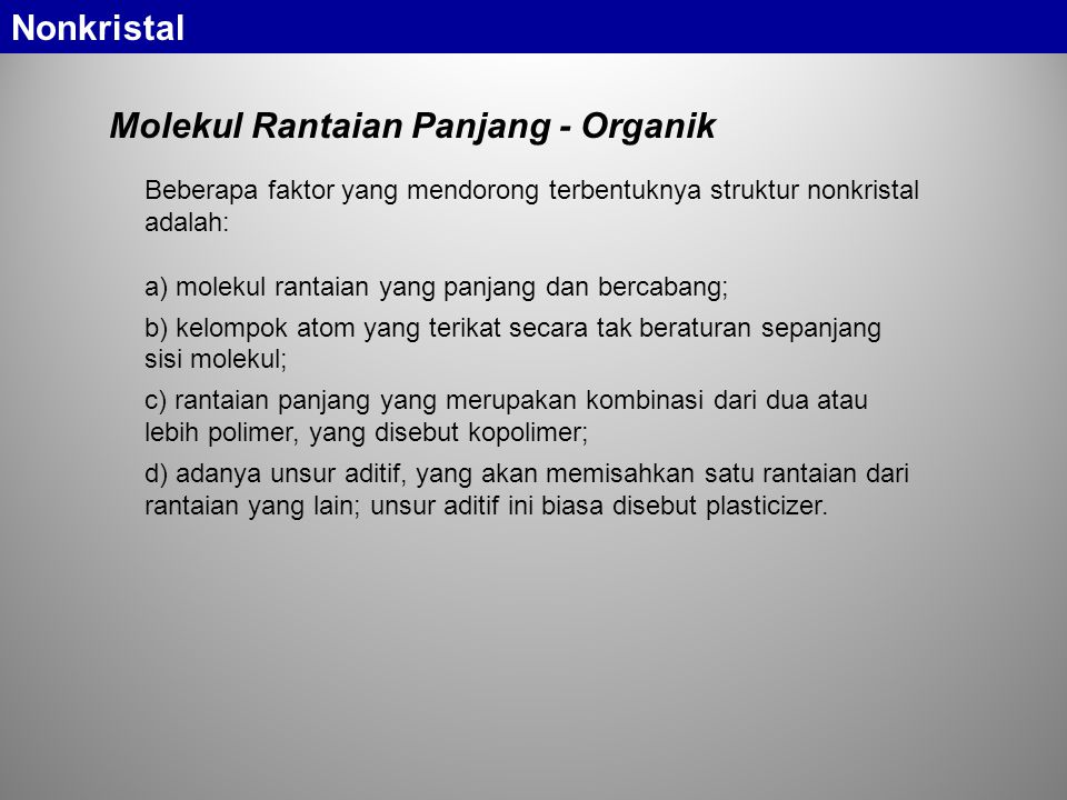 Molekul Rantaian Panjang - Organik