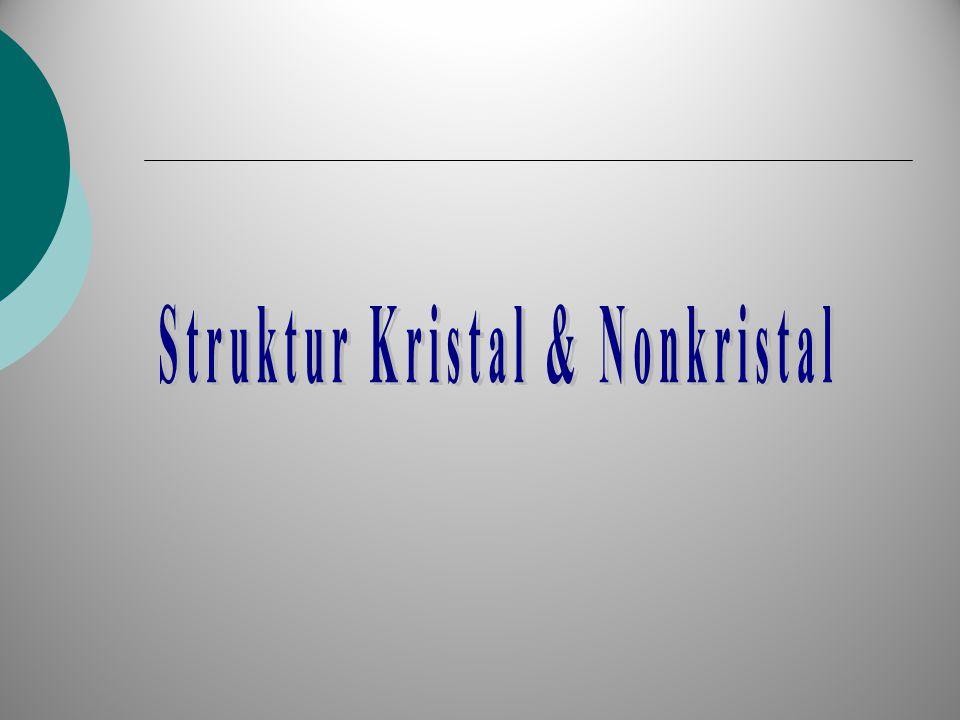 Struktur Kristal & Nonkristal