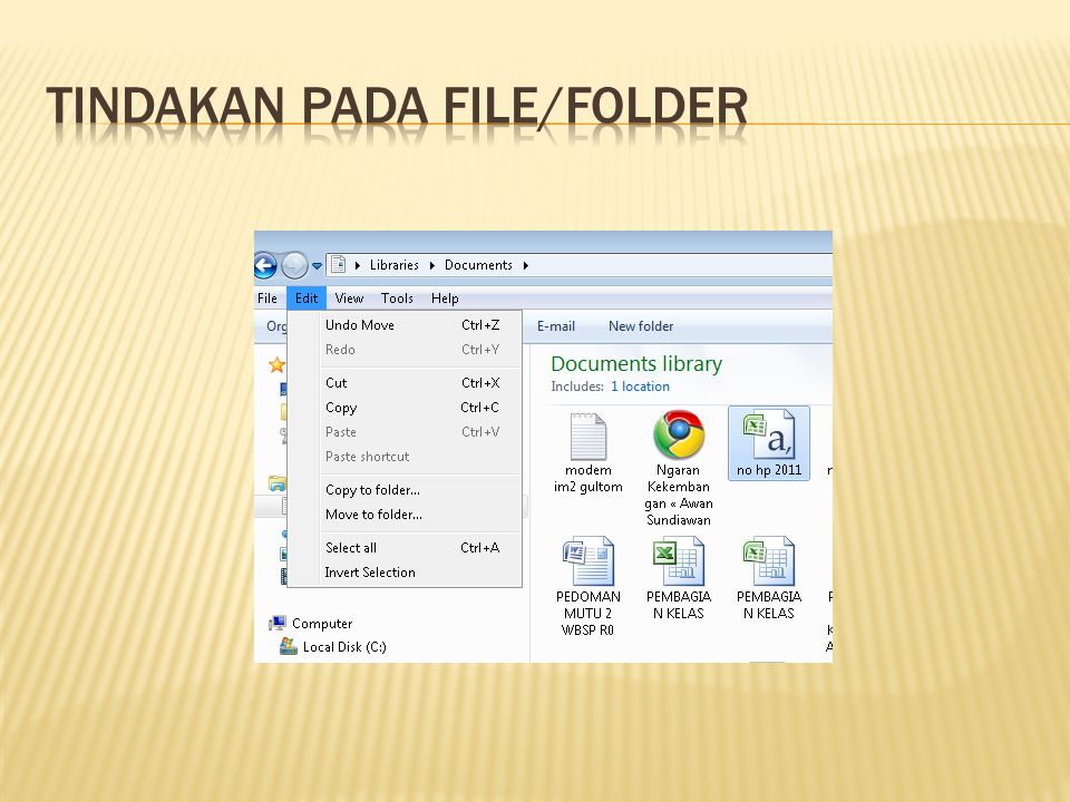 Tindakan pada File/Folder