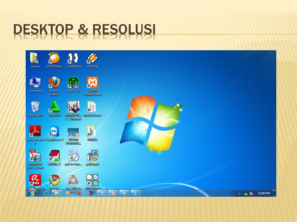 Desktop & Resolusi