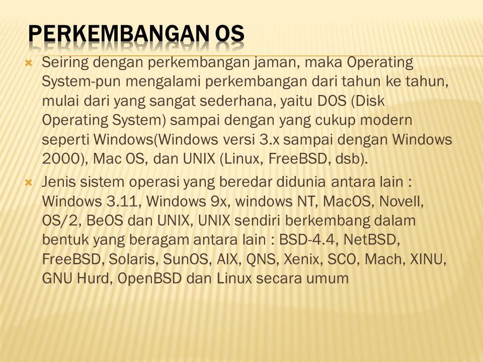 Perkembangan OS