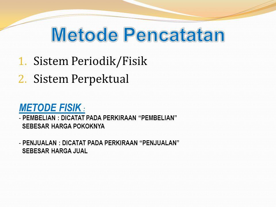 Metode Pencatatan Sistem Periodik/Fisik Sistem Perpektual