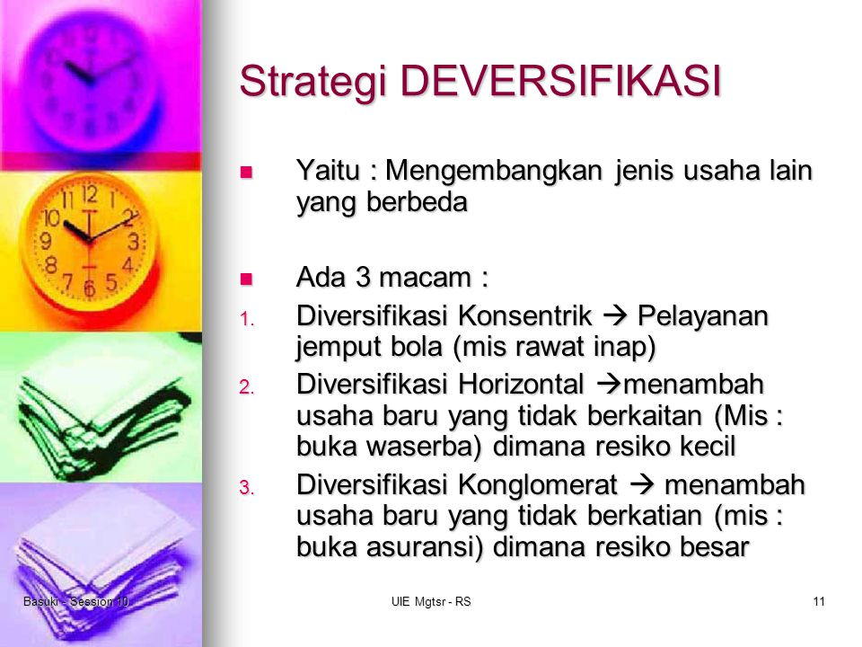 Strategi DEVERSIFIKASI
