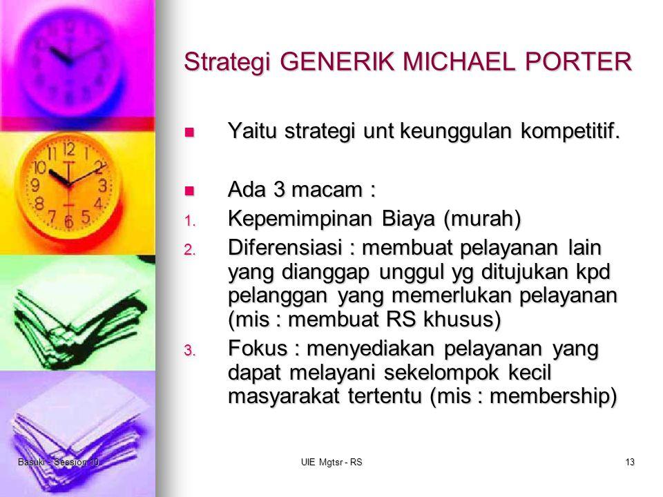 Strategi GENERIK MICHAEL PORTER