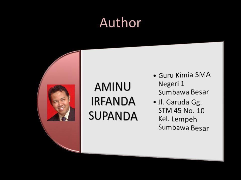 AMINU IRFANDA SUPANDA Author Guru Kimia SMA Negeri 1 Sumbawa Besar