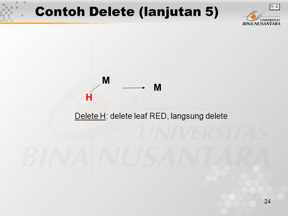 Contoh Delete (lanjutan 5)