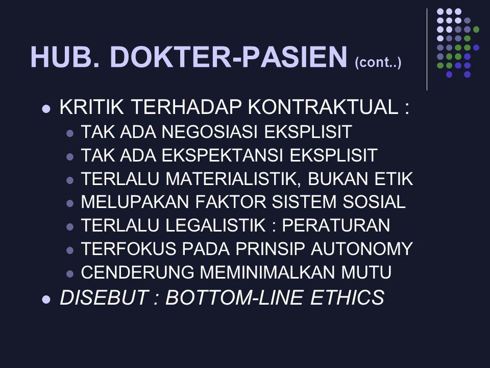 HUB. DOKTER-PASIEN (cont..)