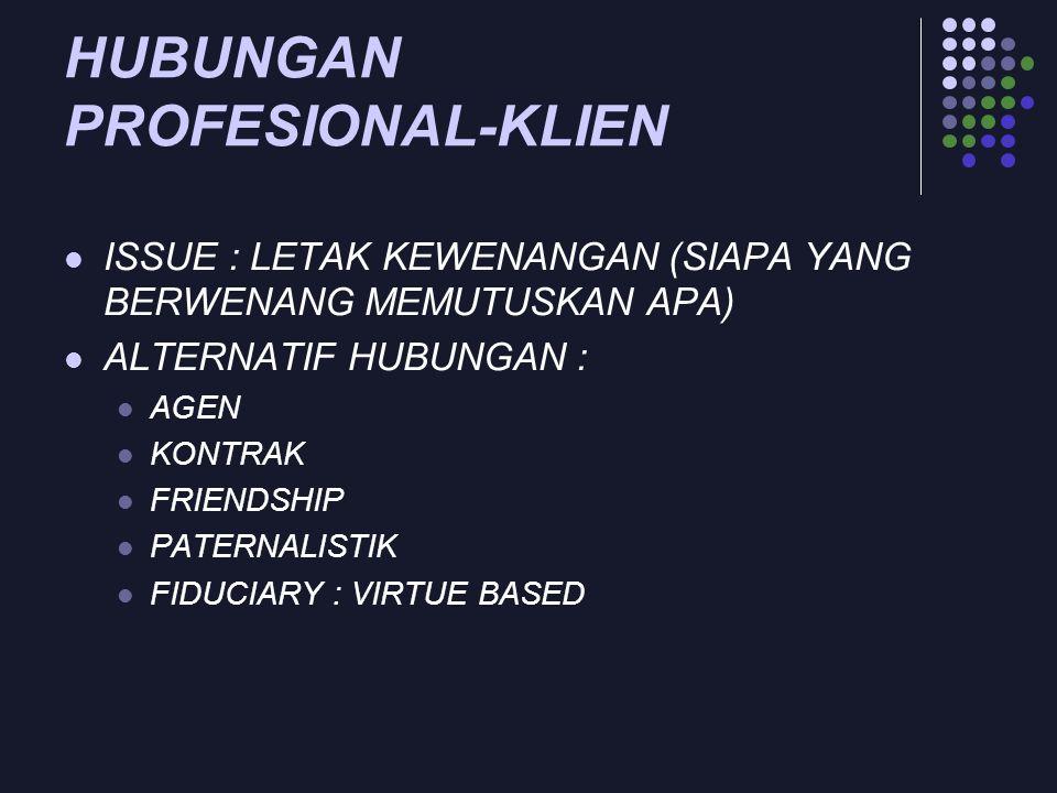 HUBUNGAN PROFESIONAL-KLIEN