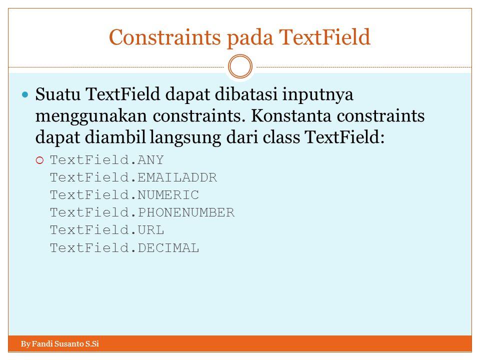 Constraints pada TextField