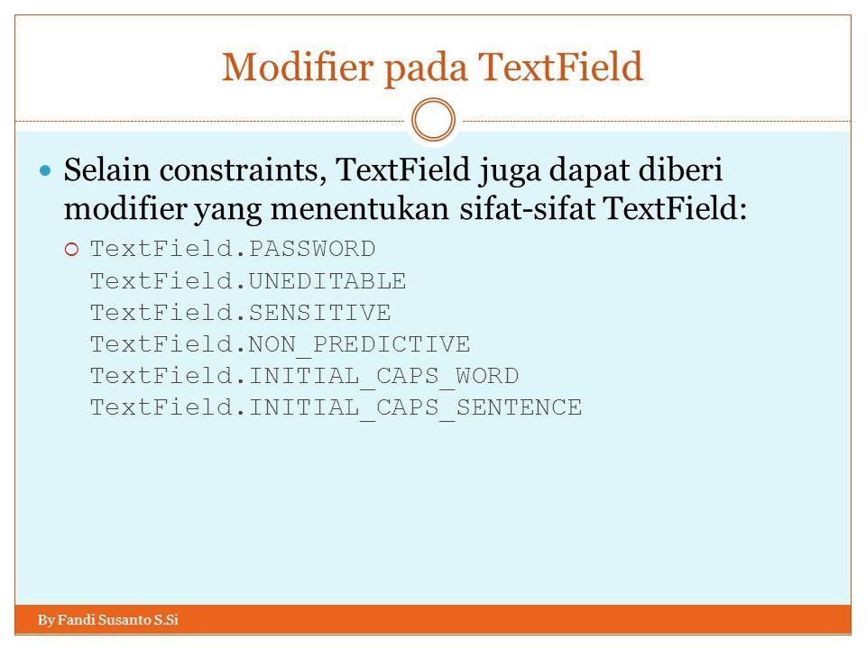 Modifier pada TextField
