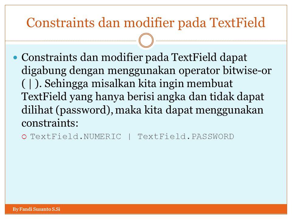 Constraints dan modifier pada TextField