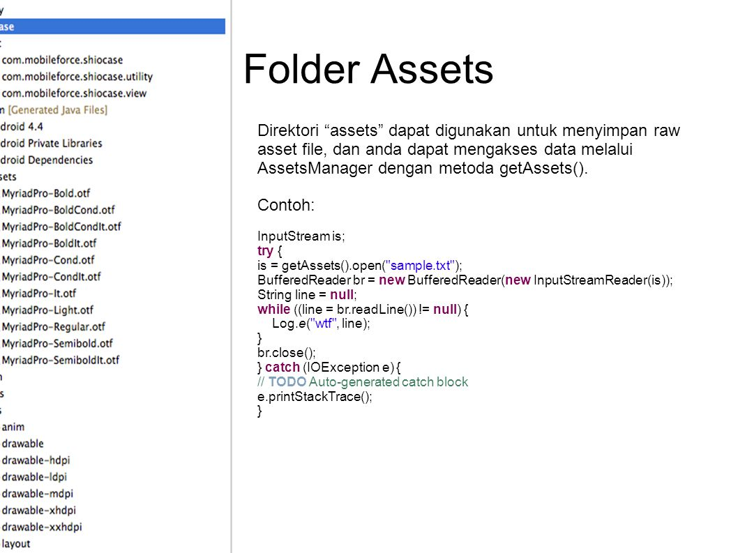 Folder Assets