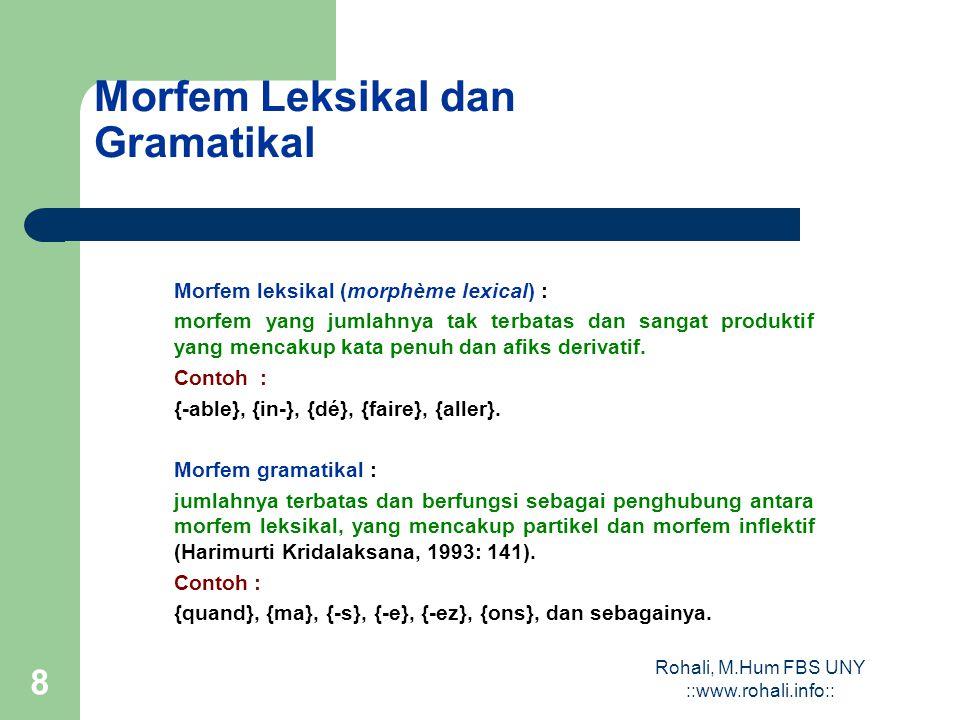 Morfem Leksikal dan Gramatikal