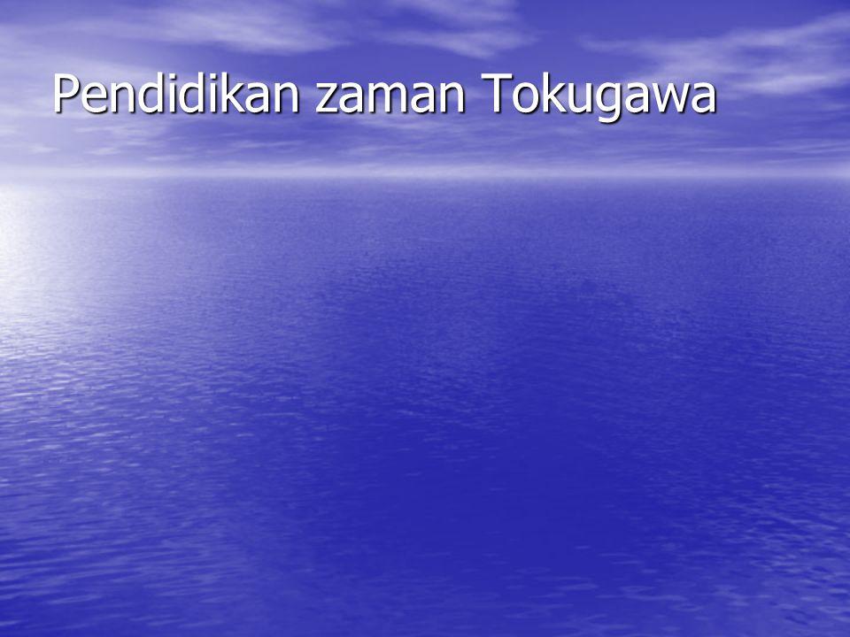 Pendidikan zaman Tokugawa