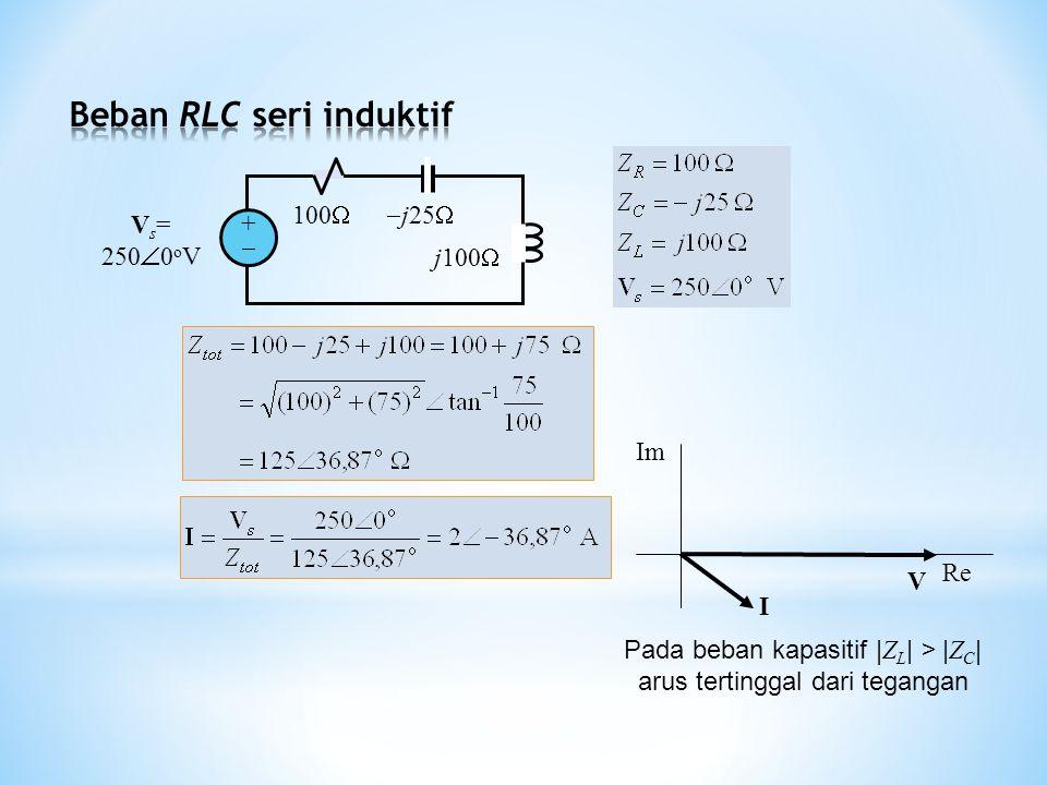 Beban RLC seri induktif