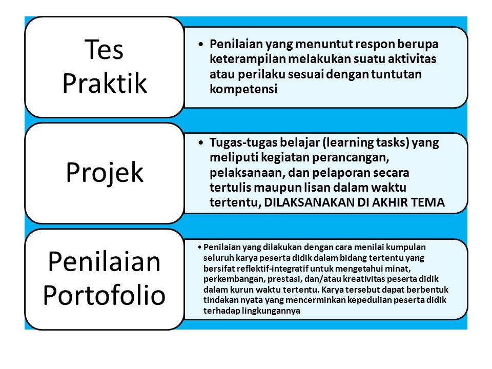 Tes Praktik Projek Penilaian Portofolio