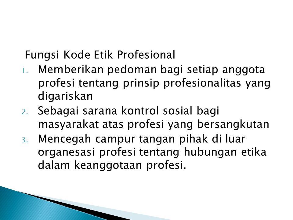 Fungsi Kode Etik Profesional