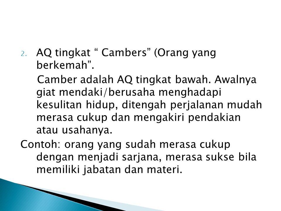 AQ tingkat Cambers (Orang yang berkemah .