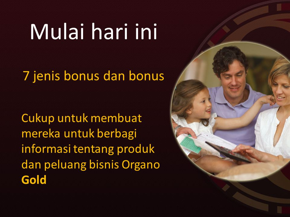 Mulai hari ini 7 jenis bonus dan bonus