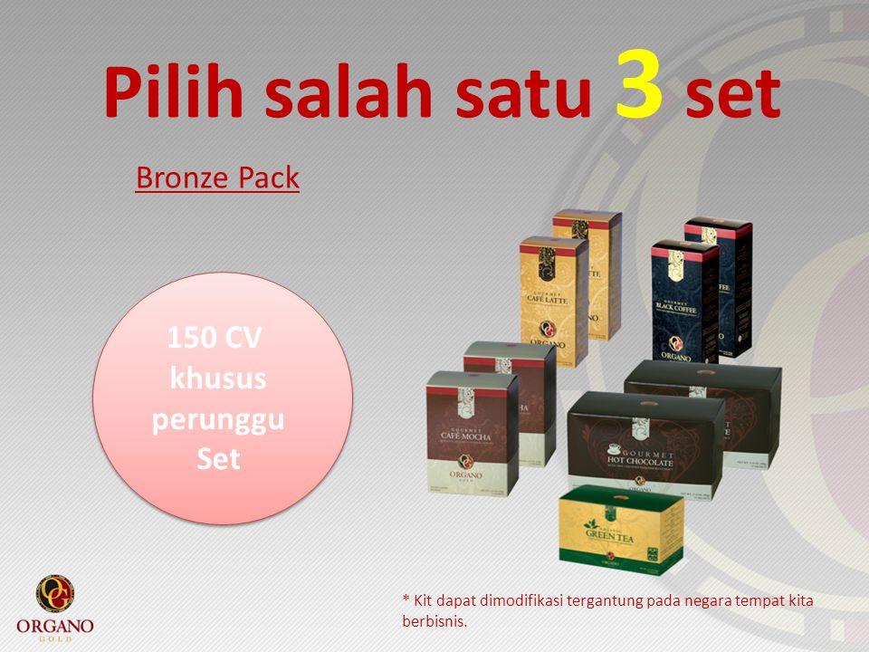 Pilih salah satu 3 set Bronze Pack 150 CV khusus perunggu Set