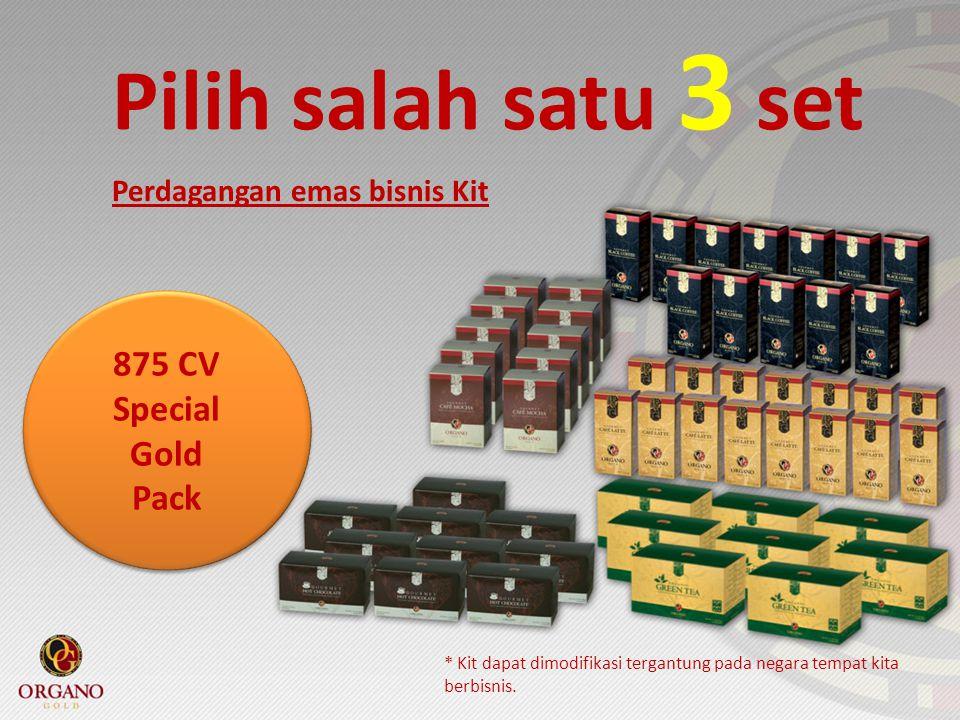 Pilih salah satu 3 set 875 CV Special Gold Pack