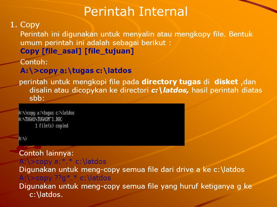 Perintah Internal Copy