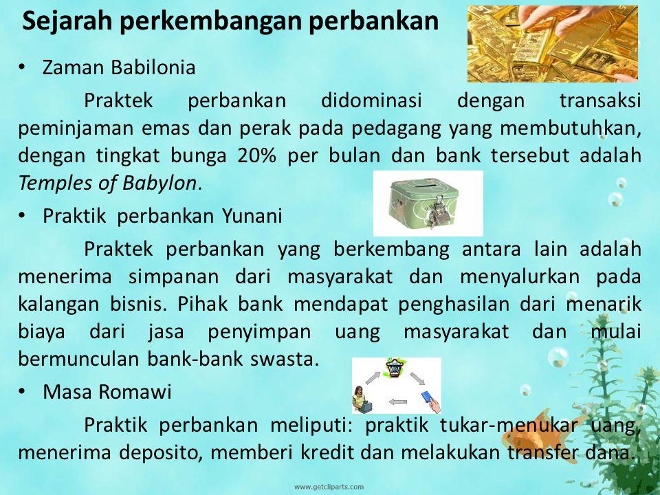 Sejarah perkembangan perbankan