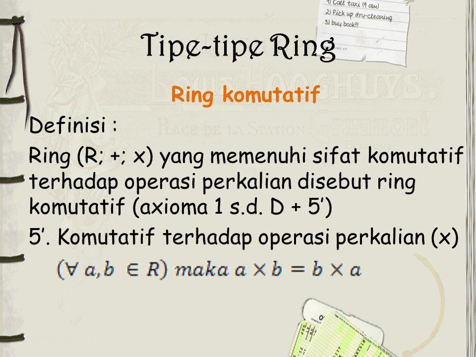 Tipe-tipe Ring