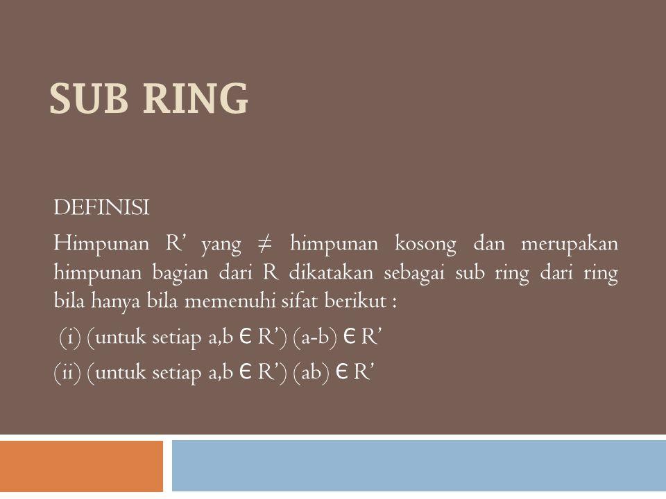 SUB RING DEFINISI.